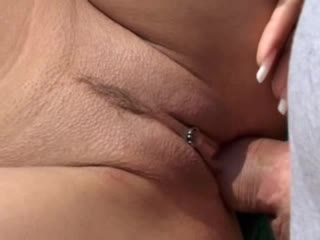Hot pierced cunt fucked outdoors
