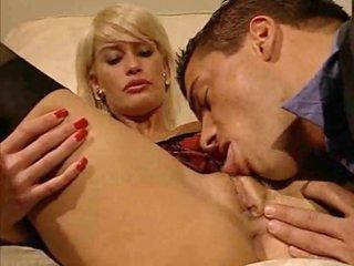 Blonde in business suit slammed in her vagina