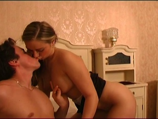European cum eating chick hungry for sex