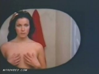 Exquisite Retro Beauty Bo Derek Flashes Her Juicy Jugs In The Bathroom