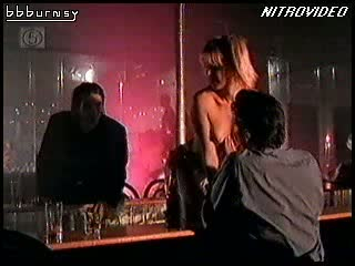 Blonde MILF Amy Lindsay Shows Her Juicy Jugs During a Hot Striptease