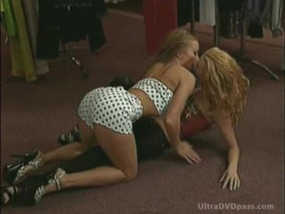 Lovely Lesbian Blondes Get Anal Fucked and Covered in Cum in a Wild Orgy