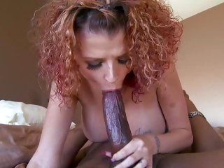 Joslyn James loves sucking on huge black mamba