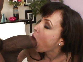Dark dick lover Lisa Ann enjoys a hard pussy fucking