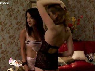 Incredibly Hot Christine Nguyen and Jasna Novosel - Lesbian Sex Scene