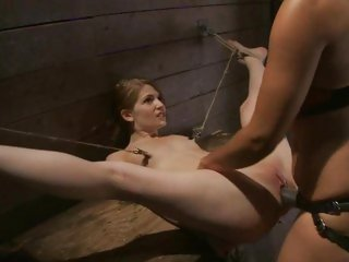 Horny Sensi Pearl is fucked by Isis Love's strap on