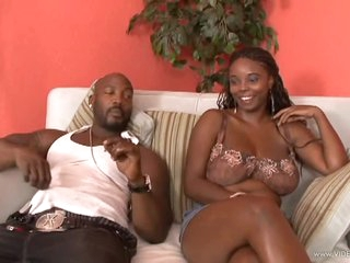 Foxy Black Beauty Stacy Adams Gets Her Wet Pussy Fucked and Creampied