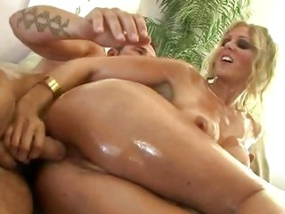 Alluring Julia Ann & Lisa Ann slurp on these cocks