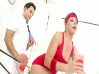 Penny Flame fucked hard by the trainer her father hired