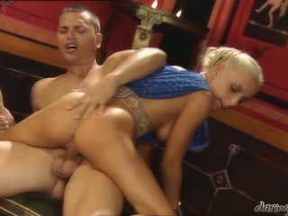 Blonde whore Florina Rose is bouncing her tight hole on a lucky man's hard cock