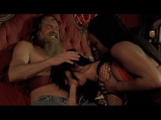 Jada Fire and Sandra Romain having oral pleasure with a lucky hippie