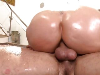 Naughty Julia Ann is slammed up her dripping pussy