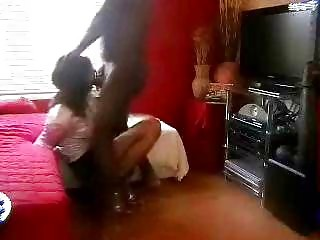 Ebony Thug Banging Bound Crossdresser