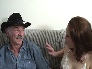 Amateur sex movie with a old man and a young slut.