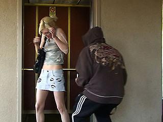 We followed this smoking sexy waitress home during the time that my buddy was jerking his meat to bust in her face. That Babe didn't want to give us her phone number so we'll show her some manners. As this babe got off the elevator my buddy whipped out his wang and...