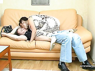 Sultry aged gal is very good in luring younger guy into steamy fucking