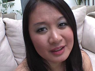 Asian Kiwi Ling fucked and cums