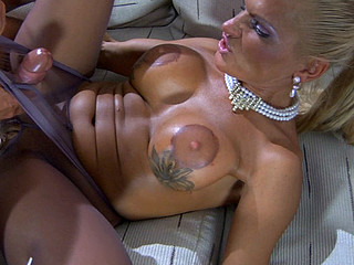 Sultry upskirt mother i'd like to fuck lured into love tunnel cramming thru her sheer-to-waist hose