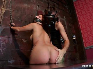 Look at this hot babe tied up on the wall and she gets her perfect ass spanked by this guy. Watch her ass getting punished really hard on the table and than he puts a big black toy deep inside her butt. Listen to her screaming of pleasure. Is she going to get some hard cock inside her tight pussy?