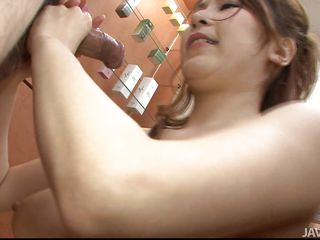 Cute and with a pair of soft delicious tits Yuki receives my hard dick between those breasts. She's all oiled up and ready for a titfuck so stay with us and enjoy! After oiling those boobs Yuki does her best and squeezes those boobs hard with my cock between them. Let's see how much she desires cum on her tits