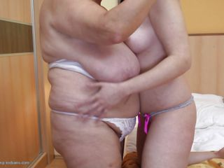 Watch this beautiful young lady making lesbian love with that old woman. It all started with kisses and undressing but after that it turned into touching and fingering each others pussy. The chick then starts sucking the mature woman's hard nipples. Let's see what happens next.
