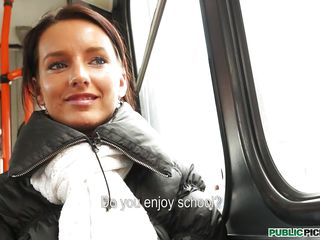Sometimes beauty springs up in unexpected places. Martina is a gorgeous student nurse.  The conversation on a bus to meet fellow students allows time to take in her beauty.  She claims to have no life outside school, but there is a lustful look in her eyes.  Perhaps, she is ready for a little excitement.