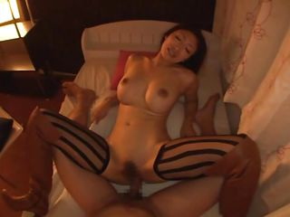Reiko is a whore and needs the hard fucking I'm about to give her. She keeps her sexy thighs spread as wide as she can and I keep on drilling her juicy pussy. Not only this Nippon whore likes fucking especially from behind but she enjoys a big load of jizz dripping out from her cunt. Watch her playing with my jizz!