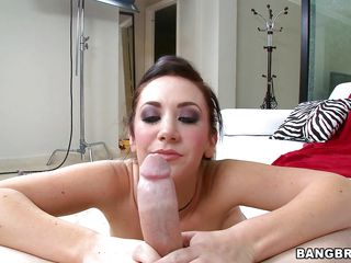 She has a divine body as you can see, but she has incredible skills with her tongue and mouth as well. As this cock found out with incredible glee. She takes it slow as she licks the balls and sucks at them. Then she turned her attention top the penis and she takes it in her mouth for a treat.