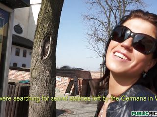 Tall young beauty Katarina is sightseeing today, learning about historical places, happy in life and love when our man in the street comes up and starts charming her. She always wanted to be in films, but never had the opportunity. Today's her lucky day...... to get fucked in public! Will our cameraman charm her further into cheating on her man and getting dicked near a historical castle?