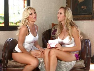 These blonde porn stars are not just good with dirty sex but also with dirty talk. Join them as they talk about their porn experiences and share amazing insights into the world of good fucking. Maybe we will see some hard fucking action soon.