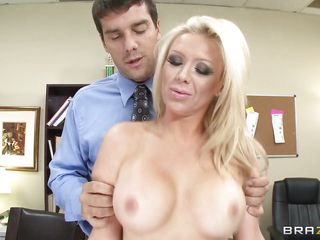 Big hot boobs blonde Dylan Riley gets her shaved cunt fingered hard and then she takes the guys dick in her mouth, giving him a hot blowjob while rubbing her boobs. She loves the feeling of a hard dick stuffing her pretty mouth and this guy goes deep in her throat while grabbing her by the hair. Would you like to see her pretty mouth filled with jizz?