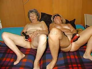 Hot grannies begin masturbating with those big red dildos and when they are ready they form a nice 69. These old, saggy and wrinkled sluts are fucking wildly and lick their shaved cunts with desire. Are these bitches going to do more then a 69? And if so, what are they up to? Let's stay with them and find out!