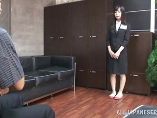 This horny little bitch in her school uniform is so innocent that it is almost unbelievable to see her getting dirty with her teacher. The teacher is a clever man and he knew there's a bitch hidden inside her innocent face. All she needed is a push. Now watch her licking the teacher cock like a slut!