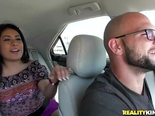 From the car to the bedroom this latina burns with desire for fucking. She's horny and wants Jmac's hard cock inside her. She showed her ass and pussy in the car and now that they've arrived home the lustful brunette gives her best and it's just a matter of time until she will receive what she desires