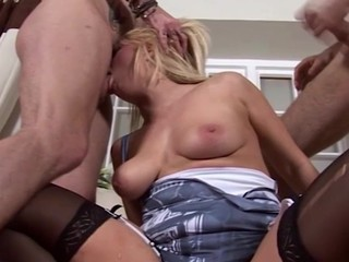 Bonnie rose tells us about her love of starwars and her love of porn! This Babe is a nerdy little slut and copulates two guys on tap the same time double penetration to show how vehement this babe is.