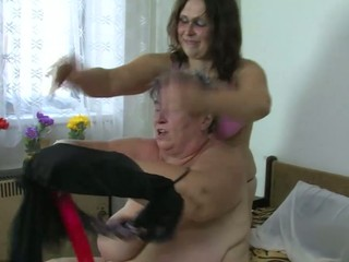 Two corpulent lesbo, four matures fucking