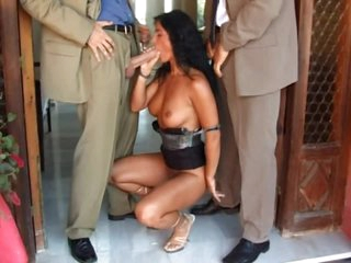 Horny Milf Has A Threesome With Two Horny Guys Outdoors