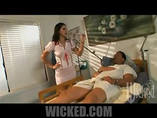 Stunning Brunette Nurse Presley Maddox Fucking Her Patient