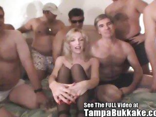 Hot Wife Holly Gets A Tampa Bukkake Gang Gang Party