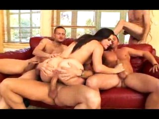 Bobbi Starr gangbang with ass stretching